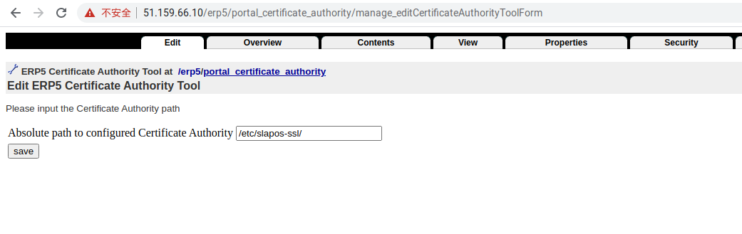 Zope Interface - Set SSL Directory